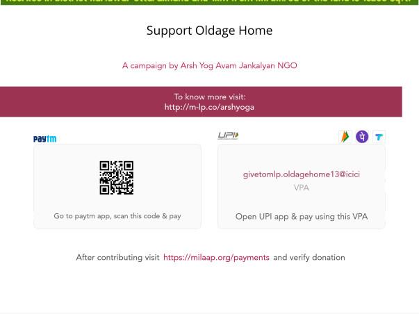 Support Oldage Home