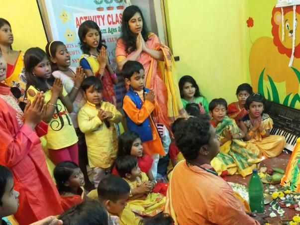 Care for underprivileged children in Twinkle Star Community Center