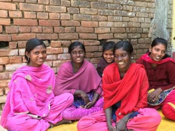 Poor helpless girls people helping INDIA