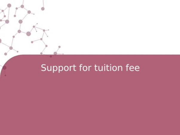 Support for tuition fee