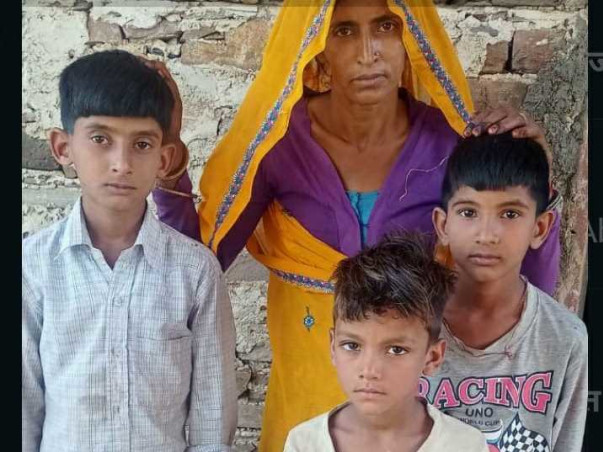 Help to the Widow and her 3 helpless children.