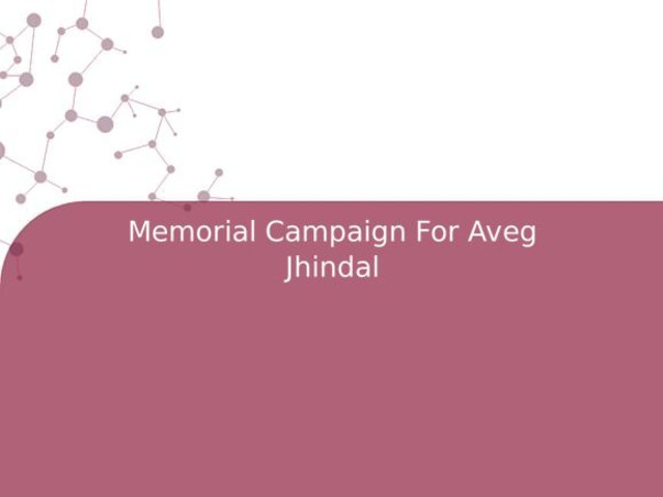 Memorial Campaign For Aveg Jhindal