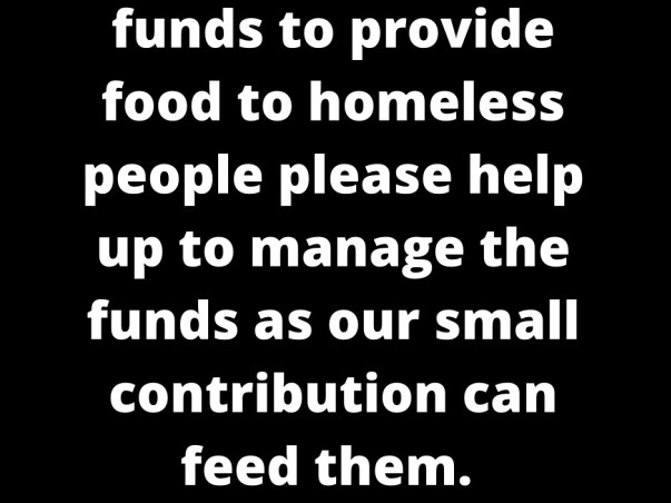 Food for homeless people