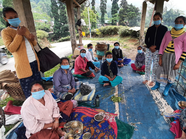 PPE kit, Village Sanitizi, mask and  Food for Tea garden worker!