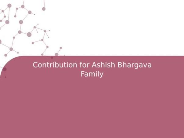 Contribution for Ashish Bhargava Family
