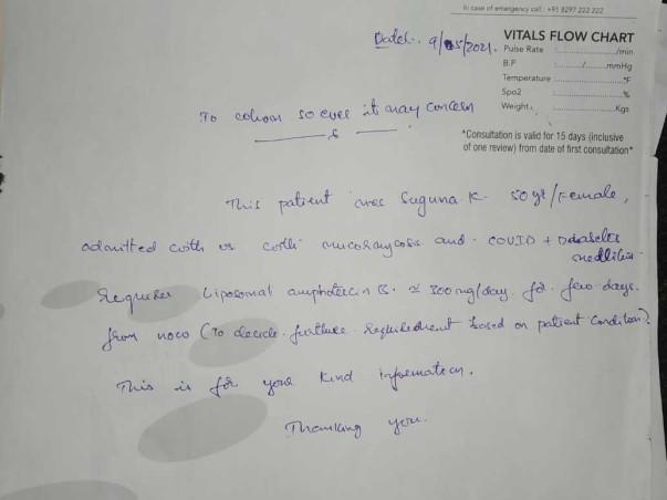 Help Suguna to fight mucormycosis(Black Fungus)