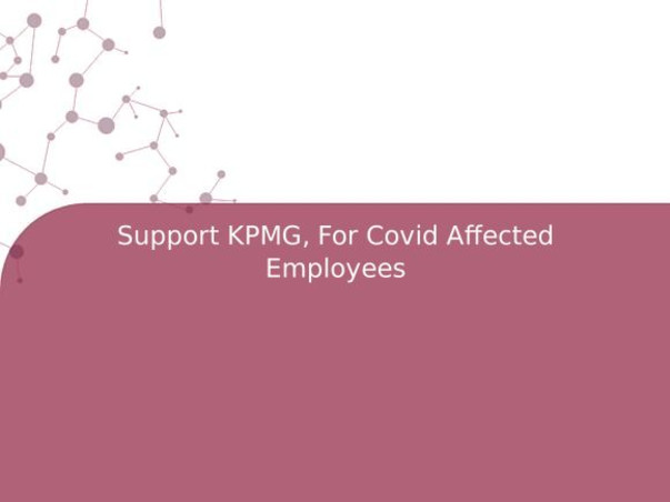 Support KPMG, For Covid Affected Employees
