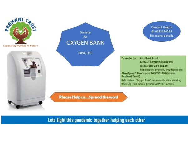 Donate For Oxygen Bank, Save a Life