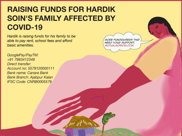 Raising funds for Hardik Soin's Family Affected By COVID-19