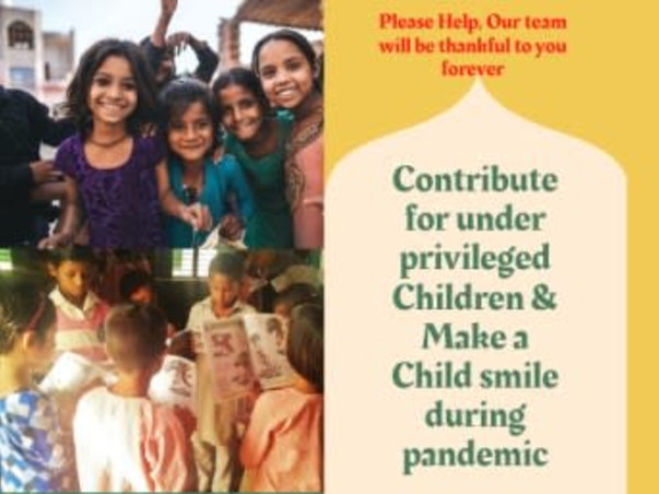 Contribute for poor children & make a child smile during pandemic
