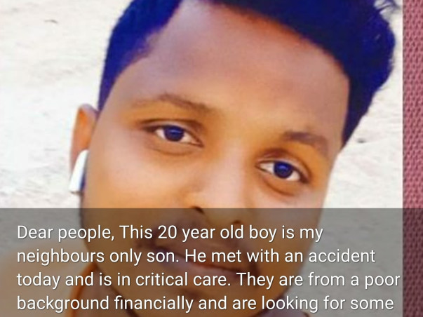 Help Bhaskar Recover From Accidental Injuries