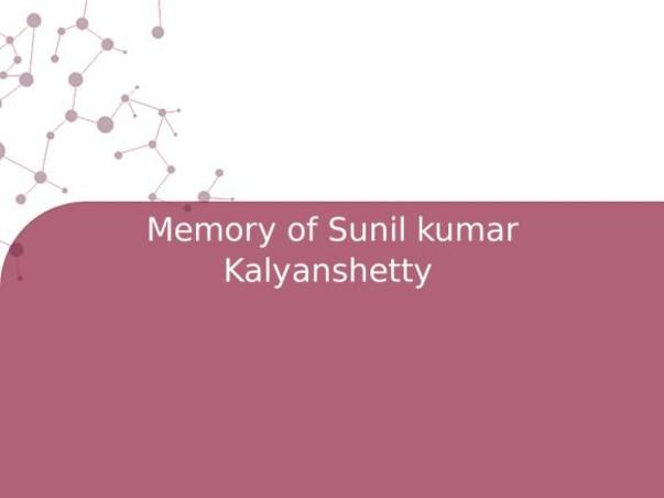 Memory of Sunil kumar Kalyanshetty