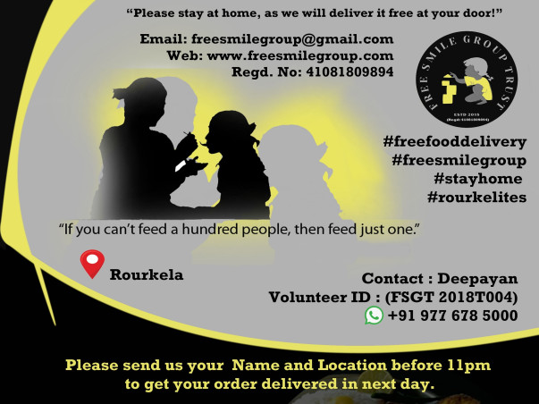 Help us deliver Free Food to Covid Patients & Homeless people