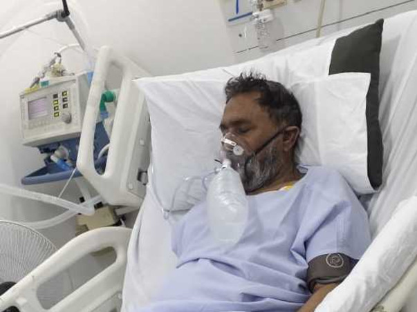 My Father Suffering From Hypoxemia