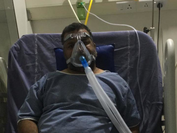 Help my uncle to fight lung damage due to covid.