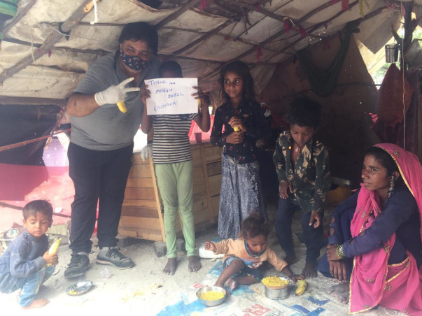 For the helping nomads families, slums children and orphans.