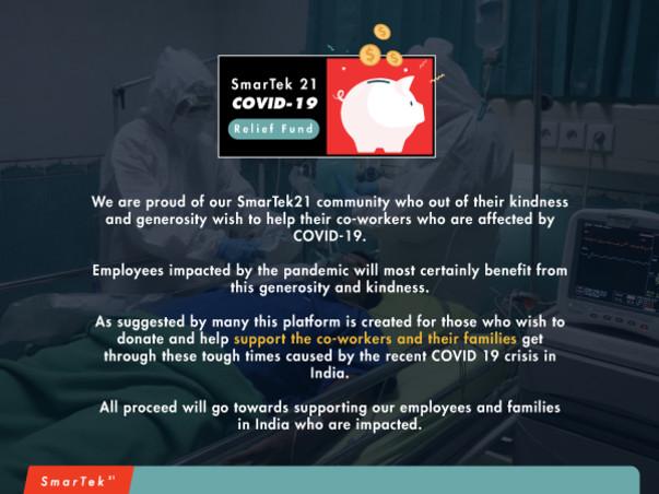 SmarTek21 COVID-19 Relief Fund
