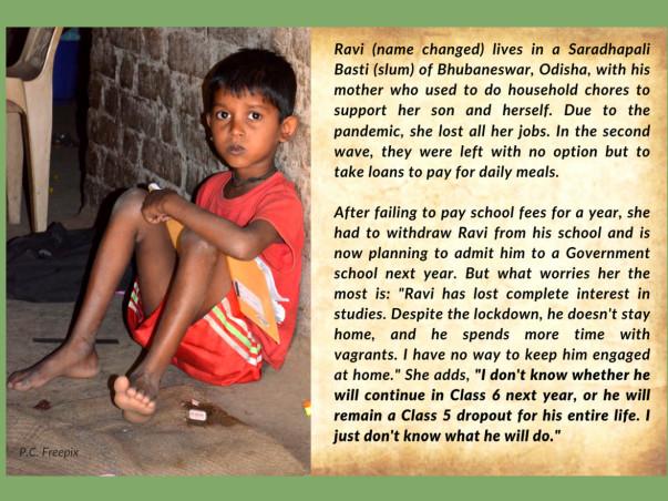 Empower children in Bhubaneswar slums to continue education