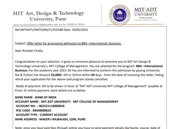 Support me to pursue my education in my dream college.