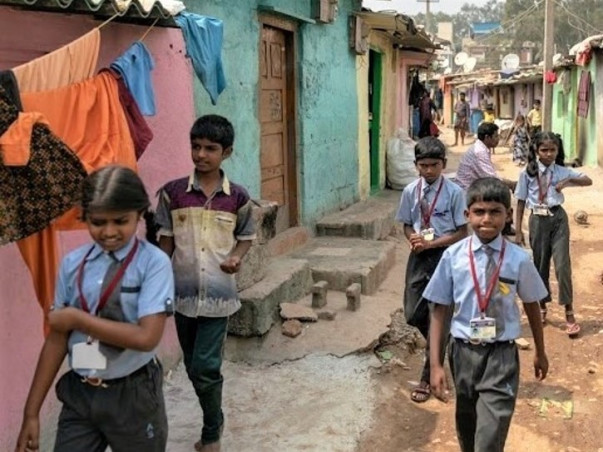 BREAK THE POVERTY CYCLE BY EDUCATING UNDERPRIVILEGED CHILDREN.